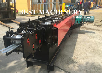 Cina Perforated Rolling Slate Door Roll Forming Machine Australa Stype Steel Metal pemasok
