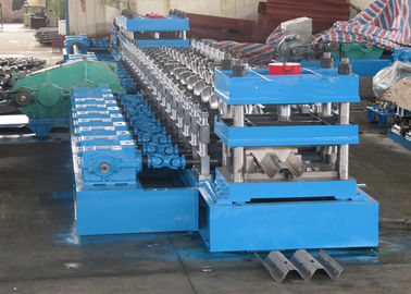 Cina W Beam 3 Wave Highway Guardrail Membentuk Mesin / Rolling Forming Making Machine Distributor